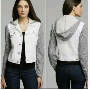 Free People denim hooded jacket size XS
